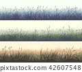 Horizontal banners of meadow with high grass. 42607548