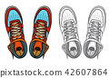 Shoes boots vector 42607864