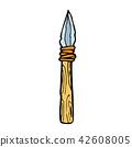 retro cartoon spear 42608005