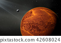 Terrestrial planet with moon, like a Mars planet 42608024