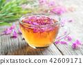 Fireweed healthy tea. Mug of chamerion tea. 42609171