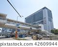 역 건물, 역 빌딩, 쾌청 42609944