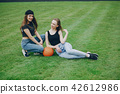 sporty girl at the stadium 42612986