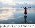 여성, 여자, 바다 42613515