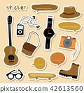 Boy camera guitar shoe  skateboard watch Cartoon 42613560