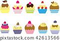 五顏六色的杯形蛋糕·10種 42613566