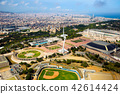 Aerial view of Sports Complex in Barcelona 42614424