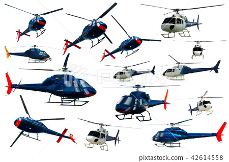 Collection of helicopters isolated 42614558