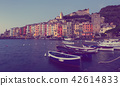 Portovenere La Spezia historical city at sea view, Italy 42614833