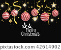 Christmas background with Gold Foil Stars 42614902