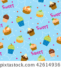 Cupcake sweet cute cartoon Gift Wrapping Vector 42614936