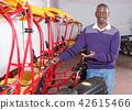 African-American man recommending rickshaw 42615466