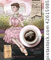 Retro coffee beans ads 42615985