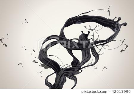 Swirling dark ink 42615996