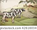 Engraving style farm background 42616034