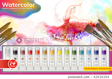 Watercolor paint set ads 42616164