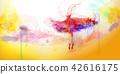 Elegant watercolor style ballerina 42616175