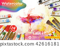 Watercolor paint set ads 42616181