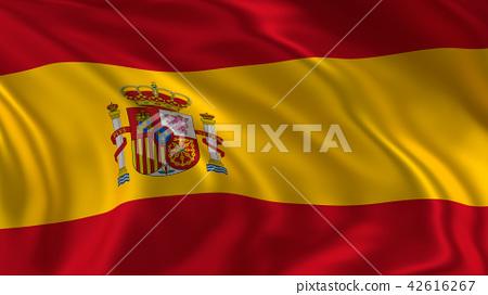 Waving Spain flag 42616267
