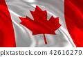Waving Canada flag 42616279