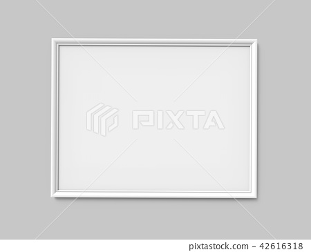 White photo frame 42616318