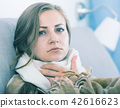 Young woman catching cold 42616623