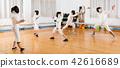 gym, stance, lunge 42616689