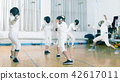 instructor, exercising, gloves 42617011