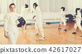 boys, gym, stance 42617027