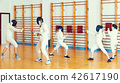 fencer, woman, coach 42617190