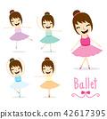 The Ballet Girl cute Activity cartoon vector 42617395
