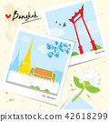 Bangkok Thailand Place Landmark Travel Vector 42618299