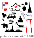 Thailand Place Landmark Travel icon cartoon vector 42618308