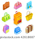 isometric bags ans suitcases 42618687