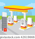 Petrol Gas Station Background Decorate Vector 42619666