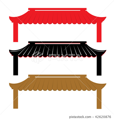 Roof Traditional China Vector 42620876