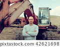 tractor operator at sand pit 42621698