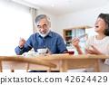 시니어 식사 부부 식탁 42624429