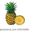 과일, 파인애플, 녹색 42624868