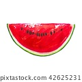 Watermelon fruit painting.Painted with watercolor. 42625231