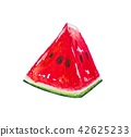 Watermelon fruit painting.Painted with watercolor. 42625233