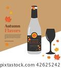 Season wine flavours vector illustration 42625242