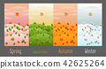 Four seasons background vector illustration 42625264