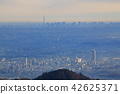 도쿄 하치 오지의 景信山 정상에서 동쪽의 하치 오지시 스카이 트리 방면 전망 42625371