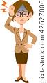 business, woman, headache 42627006
