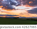 """Biei的""""北海道""""小山·晚上風景的風景 42627065"""