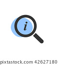 Magnifying glass looking for information icon 42627180