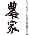 ชาวนา,การคัดลายมือ,ตัวอักษร 42627777