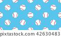 Baseball seamless pattern vector softball isolated 42630483