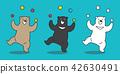Bear vector icon Polar Bear juggling ball 42630491